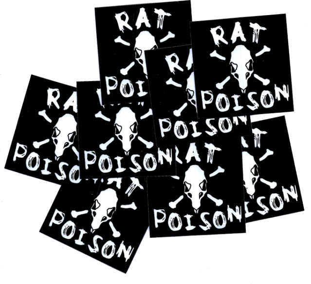 SK8RATS Rat Poison Stickers 2