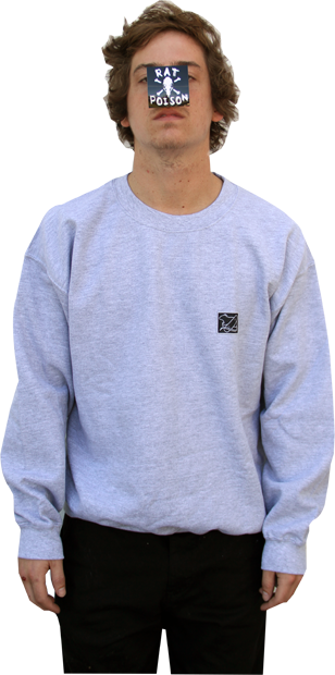 SK8RATS Crew Patch Sweater Gray Cory