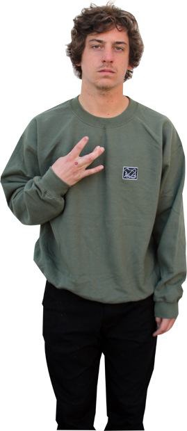 SK8RATS Crew Patch Sweater Green Cory.psd