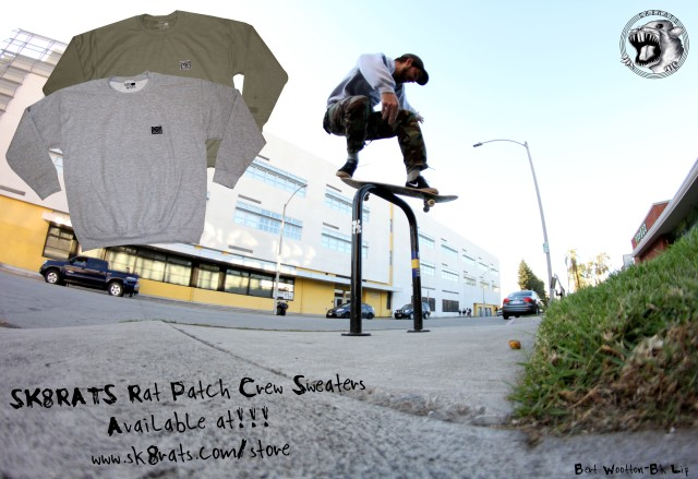 SK8RATS Rat Patch Crew Sweater AD Bert Wootton