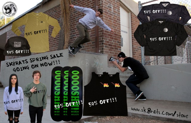 SK8RATS Spring Sale Ad