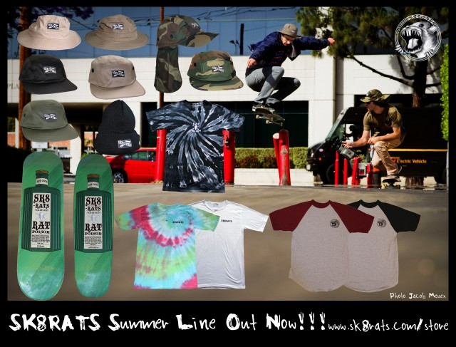 SK8RATS 2013 Summer Line Out Now!!!