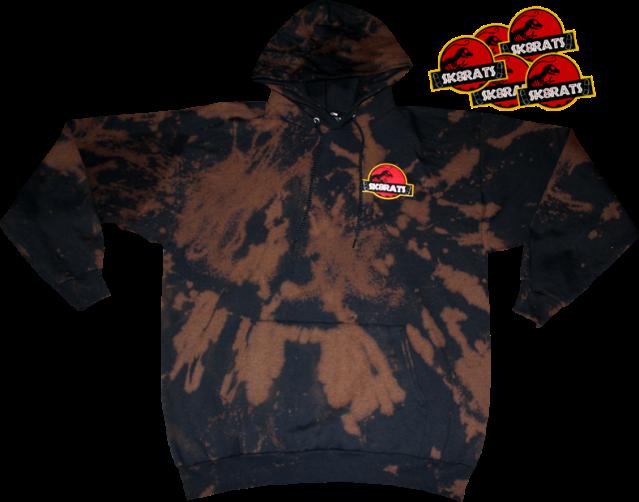 SK8RATS Jurassic Hoodie Bleach Tie Dye