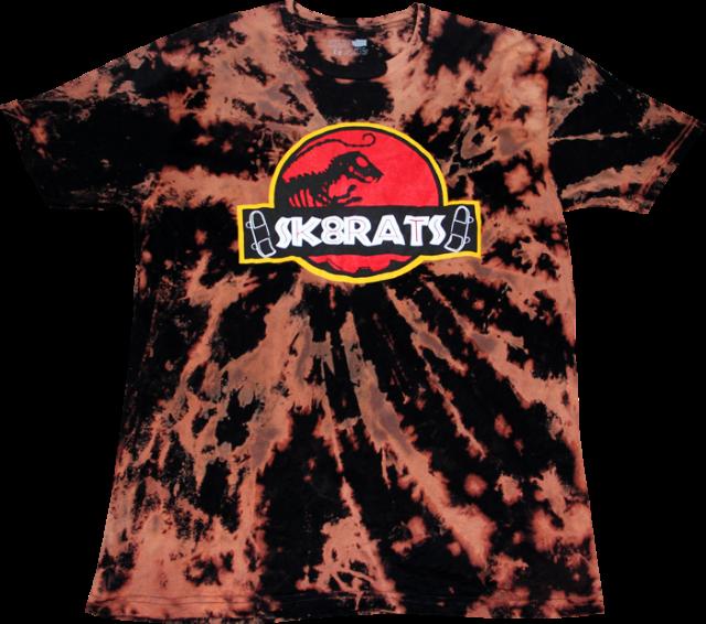 SK8RATS Jurassic Park T Bleach Tie Dye