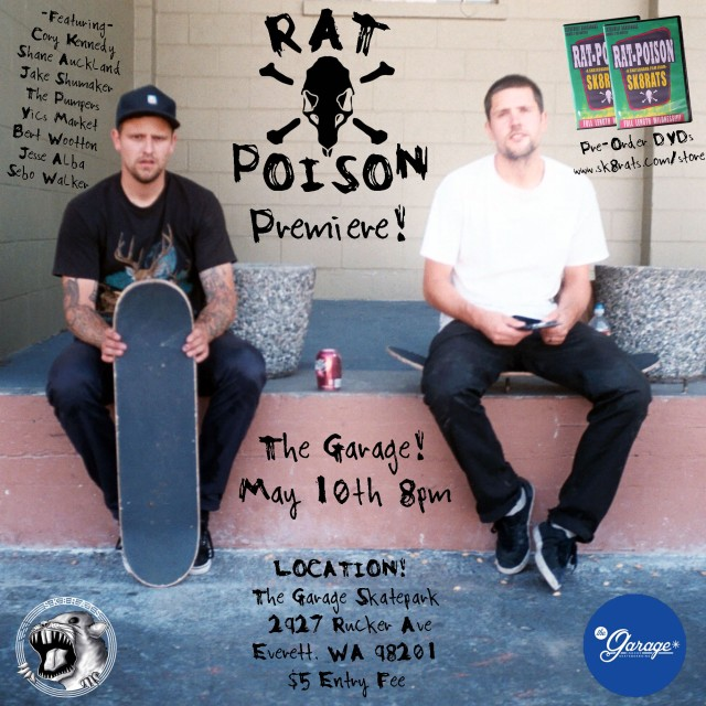 Rat Poison Video Premiere The Garage Skatepark Everett WA!!