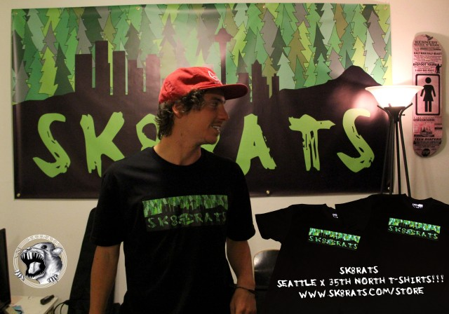 SK8RATS X 35th North T-Shirts!