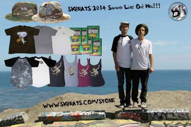 SK8RATS 2014 Summer Line Out Now!!