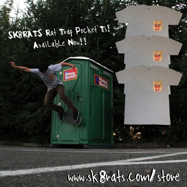 SK8RATS Rat Trap Pocket T Ad Trevor