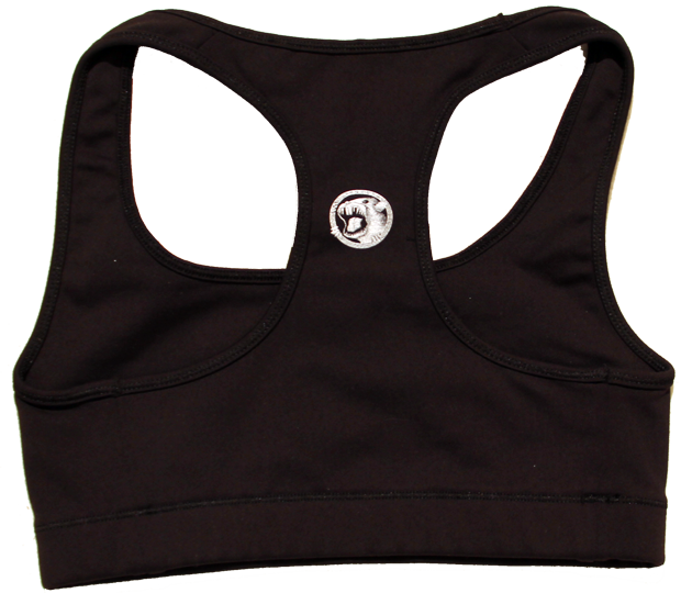 SK8RATS Sports Bra Back Black