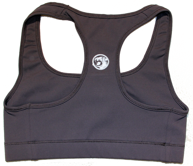 SK8RATS Sports Bra Grey Back