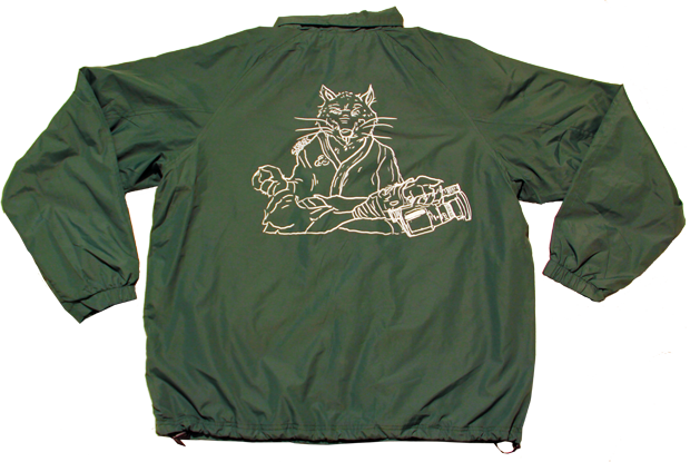 SK8RATS Windbreaker Master Splinter Back Green