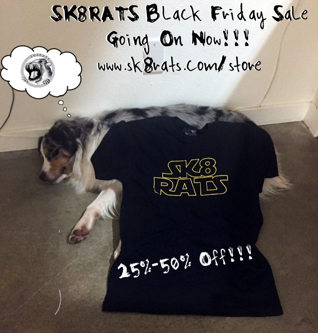 SK8RATS Black Friday Sale 2015