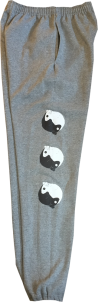 SK8RATS Ying Yang Sweats Grey 1