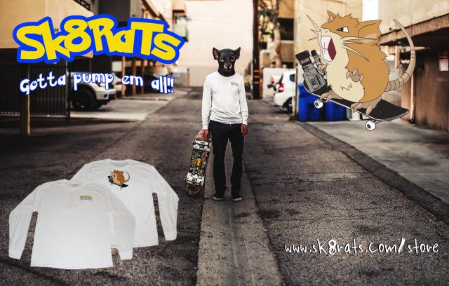 SK8RATS Raticate T-Shirt Ad