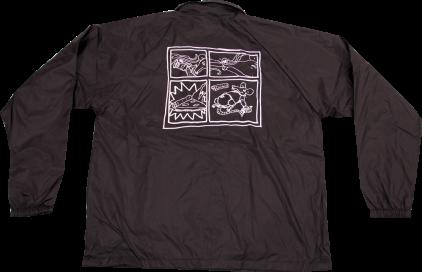 SK8RATS Pizza Rat Windbreaker Jacket Black Back