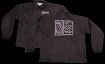 SK8RATS Pizza Rat WindBreaker Jacket Black