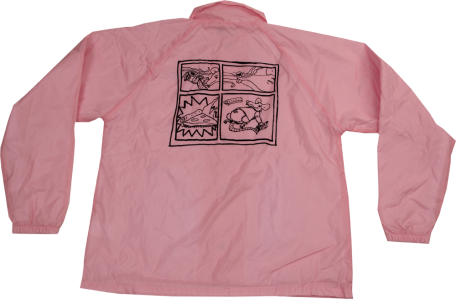 SK8RATS Pizza Rat Windbreaker Jacket Pink Back