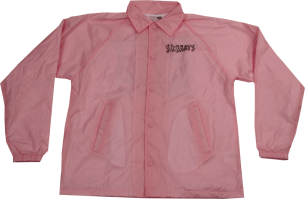 SK8RATS Pizza Rat Windbreaker Jacket Pink Front