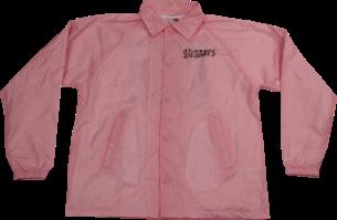 SK8RATS Pizza Rat Windbreaker Jacket Pink Front