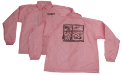 SK8RATS Pizza Rat WindBreaker Jacket Pink