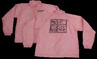 SK8RATS Pizza Rat WindBreaker Jacket Pink