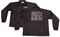SK8RATS Pizza Rat WindBreaker Jacket Black