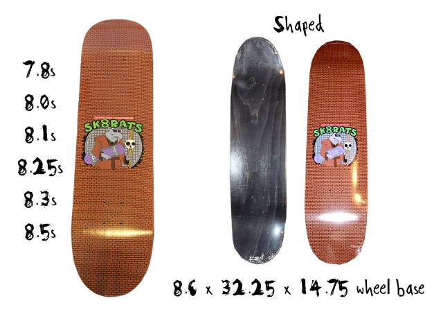 SK8RATS Master Splinter Board Normal and Shaped Board